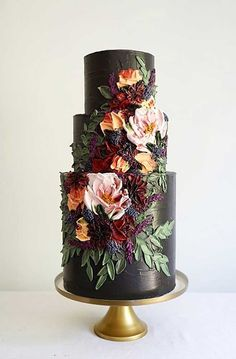22 The most beautiful wedding cakes with floral - wedding cake ideas weddingcake wedding cakeideas wedding cake with flowers cake 173670129368403623