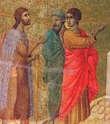 """New artwork for sale! - """" Christ On The Road To Emmaus Fragment 1311 by Duccio """" - http://ift.tt/2BAM5Zp"""