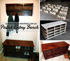 DIY Shoe Rack Pallet Bench
