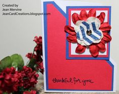 Red, white, and blue thank you card July 2015