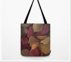 fall colors tote,autumn colors tote bag,plum,mustard and green tote,gift for her,book bag,lap top bag,shopping tote,school tote, by JulieMcDowellDesigns on Etsy