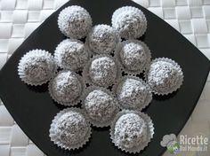 Palline di Nutella con Mascarpone e Cocco Biscotti, Nutella, Good Food, Cake, Desserts, Buffet, Mascarpone, Tailgate Desserts, Deserts