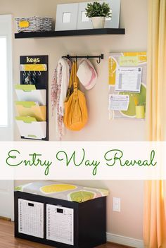 This really inspires me to create my own organized entryway.  I think it's a nice way to come home.