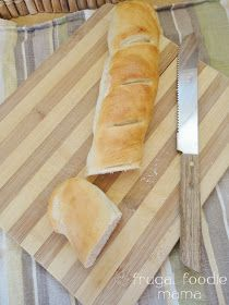 Easy Homemade French Baguettes that you can start in your bread machine- recipe on thefrugalfoodiemama.com
