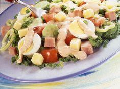 Σαλάτα του σεφ η αυθεντική -Το μυστικό που κρύβεται στην σως | BOVARY Pasta Salad, Cobb Salad, Health Diary, Salads, Ethnic Recipes, Food, Crab Pasta Salad, Essen, Meals