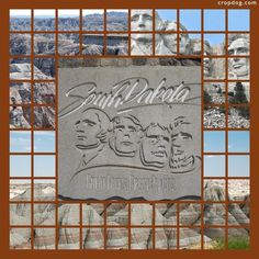 Mt. Rushmore and the Badlands - I really like the use of square mosaic for landscape photos, but they can be really tricky to cut if you're trying to create a panorama from several photos, or preserve faces etc.