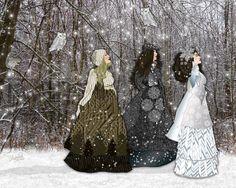 From her Etsy Shop:  Winter Queens 8x10 art print winter art by IrishVikingDesigns, $25.00
