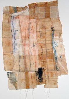 Field II by Masha Ryskin - intaglio, teabags 18 in x 30 in