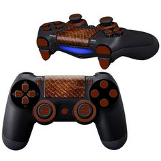 Red Snake ps4 Controller Full Buttons skin kit - Decal Design