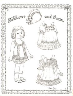 Ribbons and Lace Paper doll by Helen Page