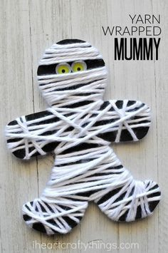 This yarn wrapped mummy craft is perfect for little ones for a fine motor activity. It makes a great Halloween kids craft too. More costume and cosplay sewing: http://www.japanesesewingpatterns.com/reviews/cosplay/2015/09/30/cosplay-costume-sewing-pattern