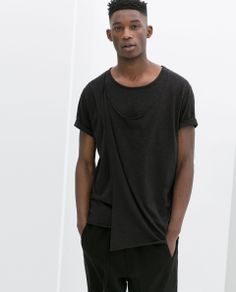 DRAPED T - SHIRT - T - shirts - MAN | ZARA Germany