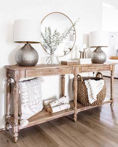 Foyer Table Decor, Home Entrance Decor, Entryway Decor, Entryway Tables, Console Tables, Console Table Styling, Farmhouse Entryway Table, Accent Table Decor, Coastal Entryway