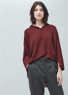 Camisa fluida | MANGO