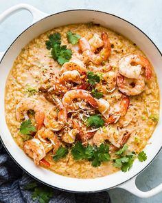 Our red curry obsession knows no bounds—give us shrimp risotto, and we'll turn around and give you a big bowlful of this jumbo shrimp-laden coconut curry… Side Dish Recipes, Side Dishes, Main Dishes, Dinner Recipes, Red Curry Shrimp, Shrimp Risotto, Coconut Curry, Coconut Milk, Kitchen