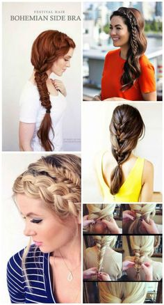 13 hermosas ideas y tutoriales para trenzas | Fotos de moda