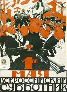 Pour le 1er mai, les Russes se portent volontaires pour le nettoyage, 1920 // Ceci est devenu la signature de Moor. Cela a influencé ses contemporains et des concepteurs actuels.