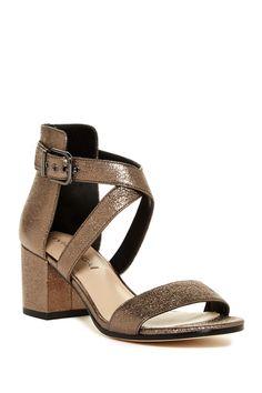 9bbebd2f4d2c36 Jobina Crisscross Strap Block Heel Sandal