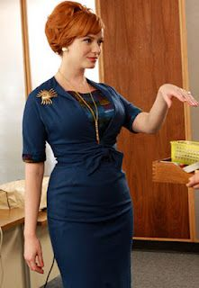 Joan Holloway........a woman with a full womanly figure!!  This should be the ideal woman figure!!