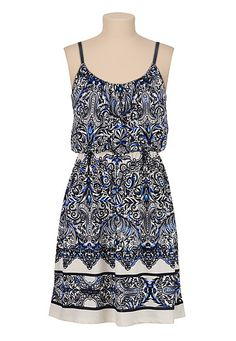 Scroll Print tank dress (original price, $34) available at #Maurices