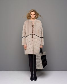 Solleciti Multi Dyed Mink Fur Coat