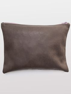 Large Leather Carry-All Pouch | Pouches & Clutches | Accessories' Bags & Wallets | American Apparel | $56 | 12 1/2 x 16 1/4""