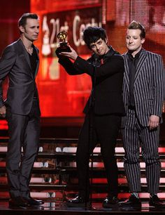 Green Day Receiving a Grammy ;) I Can't wait for the concert in Poland! June 18th and I'll be there! :D