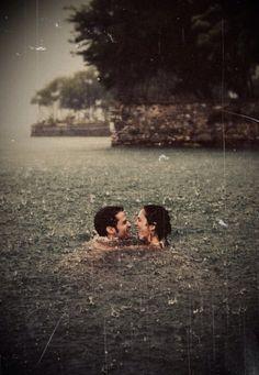 swimming in the rain! This is on my bucketlist! beautiful rain photo of couples in the rain Summer Bucket, Rainy Days, Belle Photo, Cute Couples, True Love Couples, Thing 1, In This Moment, My Love, World