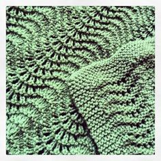 Fan And Feather Baby Blanket - Tricot Pontos Free Baby Blanket Patterns, Baby Knitting Patterns, Knitting Stitches, Knitting Ideas, Knitting Projects, Free Knitting, Crochet Patterns, Baby Patterns, Stitch Patterns