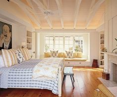 Modern Farmhouse style bedroom, Howard Backen, architect. The Polished Pebble: Modern Farmhouse Architecture