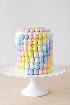 Gunny Sack blog's  Tonia Larson creates the quintessential Easter treat by simply decorating Cadbury Mini Eggs with pastel swirls.   Get the Cadbury Egg Layer Cake recipe