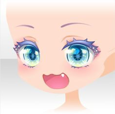Face Items on the CocoPPa Play Wiki. Chibi Eyes, Chibi Hair, Manga Eyes, Anime Eyes, Face Drawing Reference, Anime Boy Hair, Bff Drawings, Kawaii Faces, Drawing Expressions