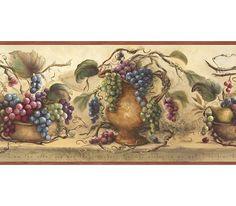 Wall Border Paper beige and burgundy heirloom lilacs wallpaper borderchesapeake