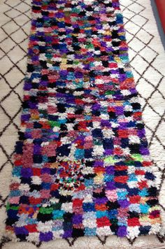 Vintage Moroccan Boucherouite Rug FREE SHIPPING by Artofvintagesouk on Etsy