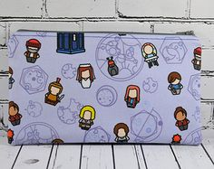 Doctor Who Pencil Case, Doctor Who Small Zipper Pouch, Doctor Who Cartoon Characters, Small Make Up Bag, Sci-Fi Bag, Whovian Gift, Geek Bag