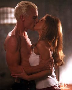 Spike and Buffy. Yes, James Marsters, you have a very hot look here.