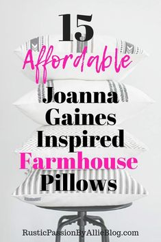 You can never have enough throw pillows. Do you love Farmhouse throw pillows for an affordable price? You will absolutely love this list of gorgeous farmhouse pillows for cheap. They are inspired by Joanna Gaines. Farmhouse Throws, Country Farmhouse Decor, French Country Decorating, White Farmhouse, Farmhouse Bed, Farmhouse Design, Farmhouse Style, Cheap Throw Pillows, Bed Pillows