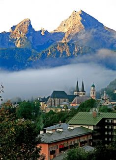 View of Berchtesgaden and the Watzmann, Germany