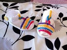 sandalia a crochet de bebe