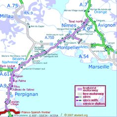 French Motorway Map Summer Plans Pinterest France - Portugal motorway map