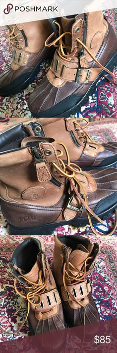 Polo Ralph Lauren Andres leather boots size 8 1/2 Polo Ralph Lauren Andres leather boots men's 8 1/2D. Some minor scuffs on toes, otherwise GUC. Polo by Ralph Lauren Shoes Boots