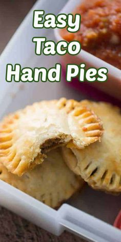 Crispy and flaky hand pies with a kid-friendly taco filling! Kids of all ages are going to love these! #handpie #taco #kidfriendly #freezerfriendly #easylunch Grilled Prime Rib, Ribeye Roast, Slow Cooker Italian Beef, Mini Tacos, Taco Fillings, Kids Lunch For School, Hand Pies, Beef Recipes, Kids Meals