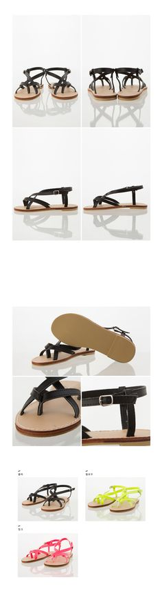 Toe Strap Crisscross Slingback Sandals | MIX X MIX | Shop Korean fashion casual style clothing, bag, shoes, acc and jewelry for all