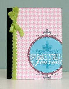 Create a prayer journal with a printable cover and a standard composition notebook.