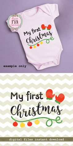 My first Christmas, Xmas new baby mittens ornament cute fun digital cut files, SVG, DXF, studio3 files for cricut, silhouette cameo, decals
