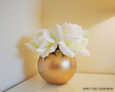 Dont call your mum: DIY Gold Vase