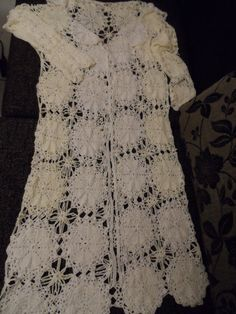 Crochet lace white and ivory long maxi boho bohemian by krittenart