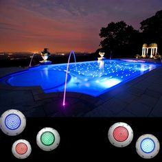 New Rgb 7 Color Led Underwater Swimming Pool Light Fountains Lamp Remote Control #Unbranded