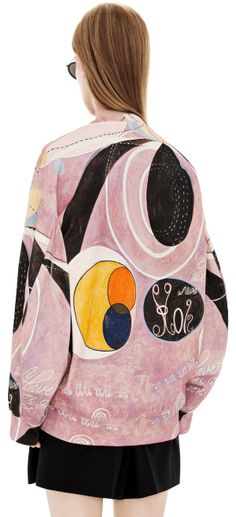 Hilma Af Klint Collection :  Beta h.k black/pink print. Acne Studios.