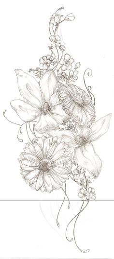 Floral Tattoo by wish-misstress.deviantart.com on @deviantART